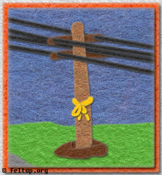 Tie a plastic yellow ribbon 'round the old utility pole